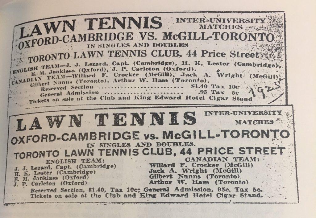 1925 University Matches